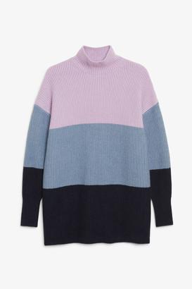 Monki Long polo neck knit