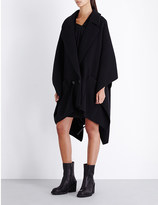 Chalayan Double-breasted wool-blend cape