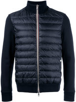 Moncler padded front knitted cardigan - men - Cotton/Polyamide/Goose Down - S