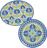 Certified International 2 Piece Martinique Round Platter & Oval Platter