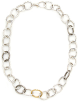 Gurhan Sterling Silver & 24K Yellow Gold Link Necklace