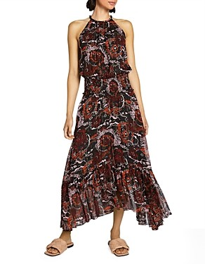 A.L.C. Bardot Printed Maxi Dress