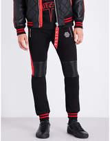 Philipp Plein Patch-detail cotton-jersey jogging bottoms