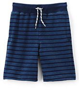 Classic Boys Husky Stripe Sweat Shorts-Black Lightning Print