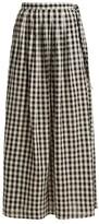 Anaak - Devika Buttoned Maxi Skirt - Womens - White Black