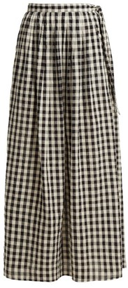 Anaak - Devika Buttoned Maxi Skirt - Womens - White Black