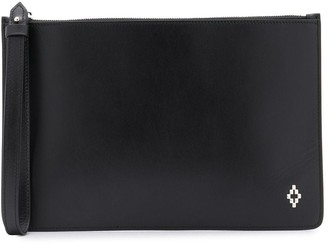Marcelo Burlon County of Milan Logo Plaque Clutch