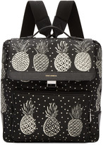 Dolce & Gabbana Black Pineapple Backpack
