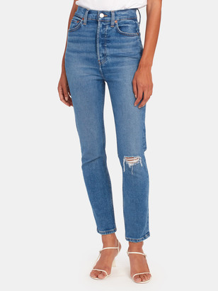 RE/DONE 90s Ultra High Rise Ankle Crop Jeans