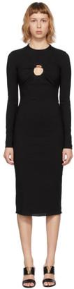 Versace Black Sable Midi Dress