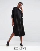Monki Oversized Jersey Midi Dress