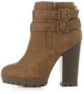 Charlotte Russe Double Buckle Ankle Booties