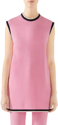 Gucci Sleeveless Light Stretch Cady Tunic Top
