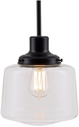 Linea Di Liara Scolare Pendant Light with Bulb, Black