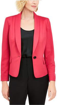 Kasper Petite Shawl-Collar Single-Button Blazer