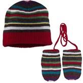 Paul Smith Stripe Beanie Hat And Mitten Set