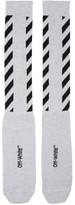 Off-White Glitter Diagonal Socks