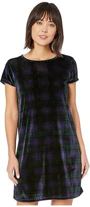 Vineyard Vines Blackwatch Tee Dress (Jet Black) Women's Dress