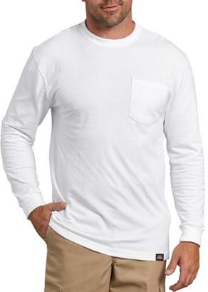 Dickies Genuine Men's Long Sleeve Heavy Weight Pocket T-Shirt, 2-Pack