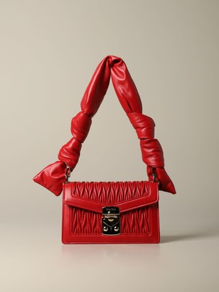 Miu Miu Confidencial Bag In Matelasseacute; Leather With Padded Shoulder Strap