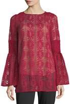 MICHAEL Michael Kors Long Bell-Sleeve Lace Tunic