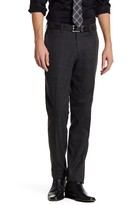 Louis Raphael Windowpane Flannel Flat Front Pant - 30-34 Inseam