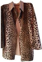 agnès b. Beige Faux fur Coat for Women