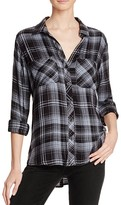 Bella Dahl Two Pocket Plaid Button Down Shirt