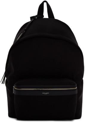Saint Laurent Black Canvas City Backpack