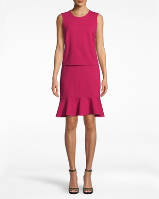 Nicole Miller Ponte Pop Over Dress