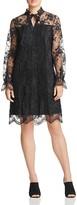Elie Tahari Dara Tie Neck Lace Dress