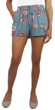 BeBop Juniors' Floral-Print Soft Shorts