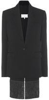 Maison Margiela Wool-blend Jacket With Fringed Waistcoat