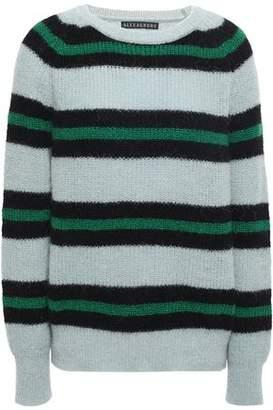 ALEXACHUNG Baby Suri Striped Alpaca-blend Sweater