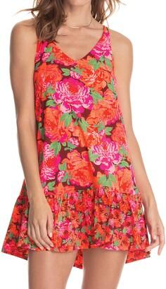 Maaji Florealis Mermaizing Reversible Short Cover-Up Dress