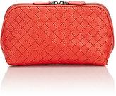 Bottega Veneta Women's Intrecciato Medium Cosmetic Case-RED