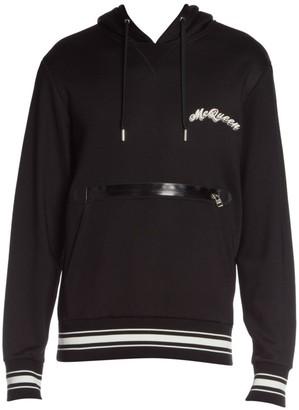 Alexander McQueen Zipper Logo Cotton Hoodie