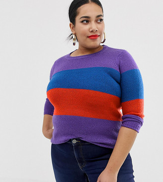 Junarose Colour Block Knitted Jumper