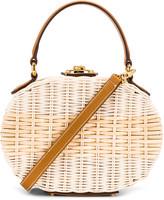 Mark Cross Gianna Oval Box Bag in Luggage   FWRD