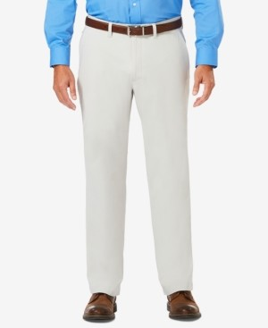 Haggar J.m. Men's Luxury Comfort Classic-Fit Performance Stretch Casual Pants