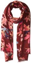 Bindya Cashmere/Silk Floral Mixed Print Scarf Scarves