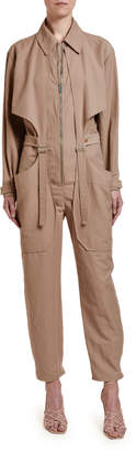 Stella McCartney Gabardine Tabbed Jumpsuit
