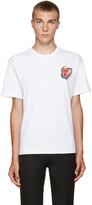 Kenzo White Heart Logo T-Shirt