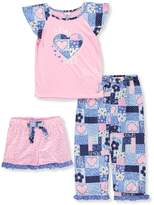 Sweet Heart Rose Little Girls' 3-Piece Pajama Set