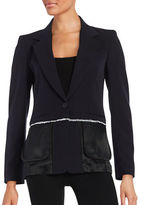 DKNY Fringed Trim Blazer