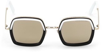 Cutler & Gross Colour Block Squared Sunglasses