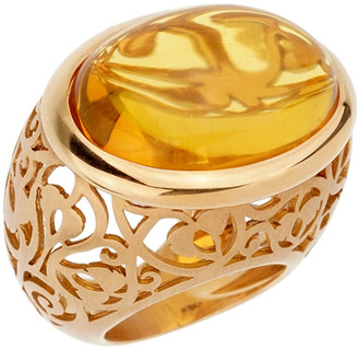 Pomellato 18K 23.50 Grams Rose Gold 19.82 Ct. Tw. Amber Cocktail Ring