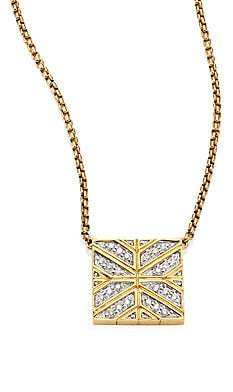 John Hardy Women's Modern Chain Diamond & 18K Yellow Gold Pendant Necklace