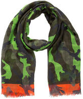 Valentino Camouflage Cashmere Scarf