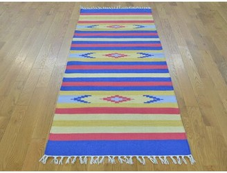 Isabelline One-of-a-Kind Clairview Southwestern Design Handmade Kilim Wool Area Rug Isabelline